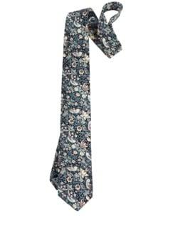 Liberty Krawatte Erdbeerdieb grau/rosé Detail 1