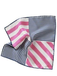 Flaggentuch Streifen weiß/pink/blau Detail 1
