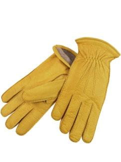 Arbeiter-Handschuh gelb Detail 1
