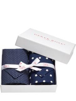 Handkerchiefs by Derek Rose blau/weiß Detail 1