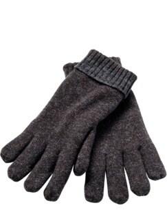 Kältekünstler-Handschuhe anthrazit/braun Detail 1