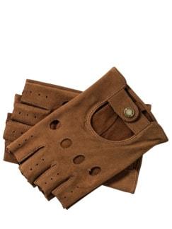 Roadster-Handschuhe mahagoni Detail 1