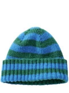 Hard Working Hat Streifen azur/moos Detail 1