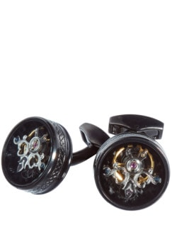 Tourbillon Cufflinks silber Detail 1