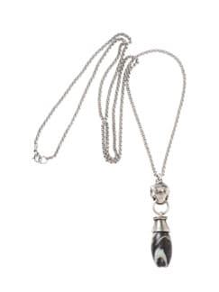 Jaspis-Amulett silber Detail 1