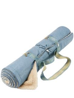 Holistik Yogamatte himmelblau Detail 1