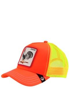 Farmer Cap Hahn orange Detail 1
