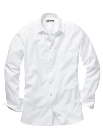 Future-Shirt Slim Fit weiß Detail 1