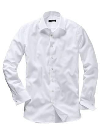 French Cuff Hemd weiß Detail 1
