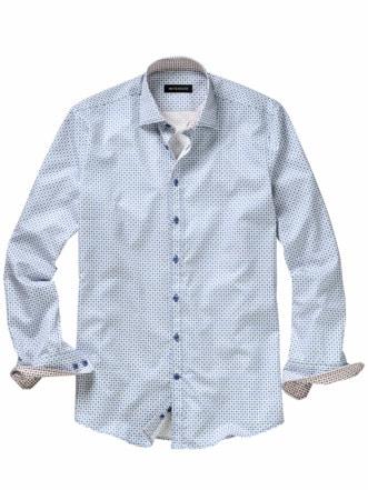 Punkt-für-Sie-Hemd weiß/blau Detail 1