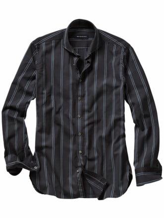 Klare-Nacht-Hemd nachtblau Detail 1