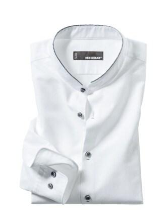 Standup-Oxfordhemd weiß Detail 1