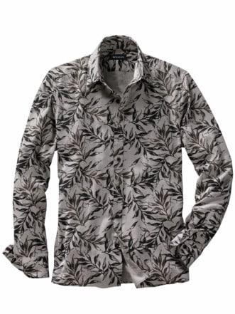 Ölzweig-Hemd grau/schwarz Detail 1