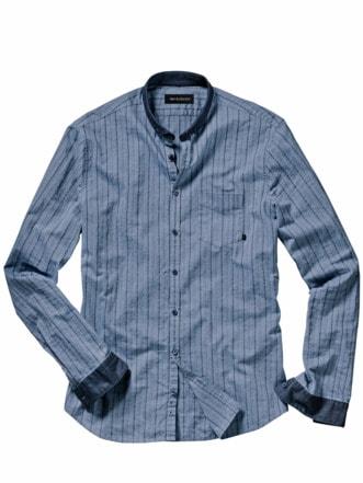 Relaunch-Streifenhemd blau Detail 1