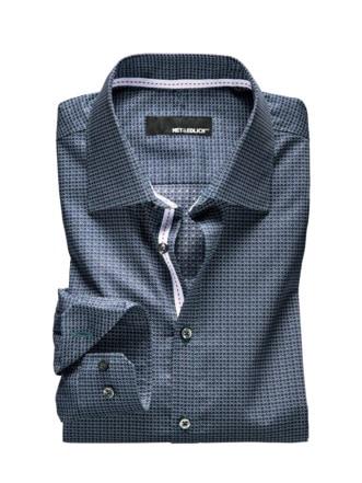Dynamic-Shirt Ribbon Raute navy/grün Detail 1