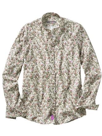 Liberty Hemd Mina Blumen mandelweiß Detail 1