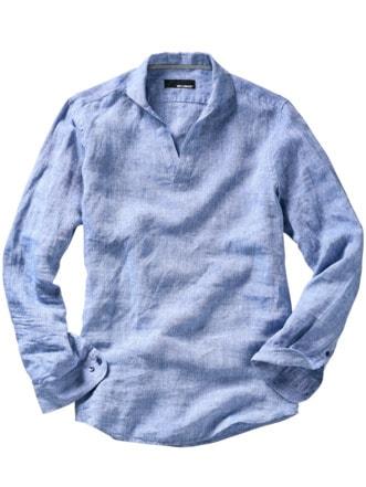 Schlupfhemd Valetta blau Detail 1