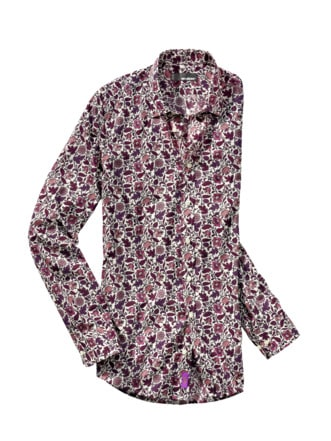 Liberty Hemd Berry Flowers weiß/beere Detail 1