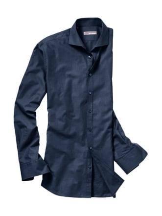 Dunklenacht-Hemd nachtblau/schwarz Detail 1