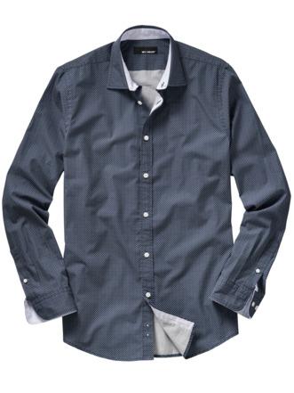 Schritt-weiter-Hemd dunkelblau Detail 1