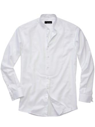 Plastron-Hemd 2.0 weiß Detail 1
