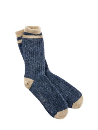 Donegal-Socke blau Detail 1