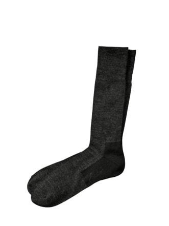 Tag-und-Abend-Socke schwarz meliert Detail 1