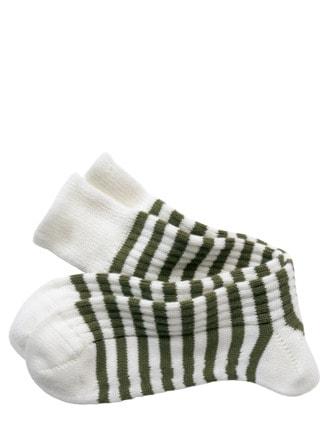 Hunter-Socke Streifen weiß/grün Detail 1