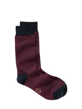 Socke Milano bordeaux Detail 1