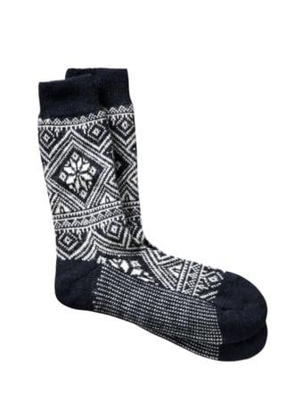 Norweger-Socke dunkelblau Detail 1