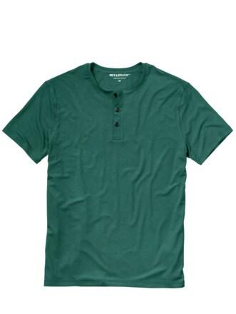 Chill-out-T-Shirt flaschengrün Detail 1