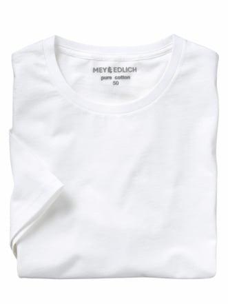 Regular Benchmark-Shirt Rund weiß Detail 1
