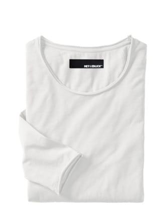 Naturelastisches Shirt offwhite Detail 1