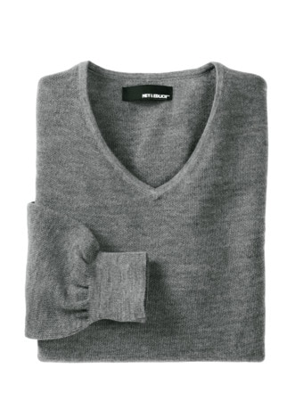 Bordcase-Pullover grau Detail 1