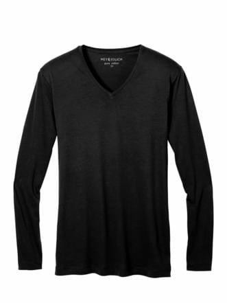 Benchmark-Shirt Langarm schwarz Detail 1