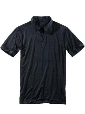 SV-Leinenshirt schwarz Detail 1