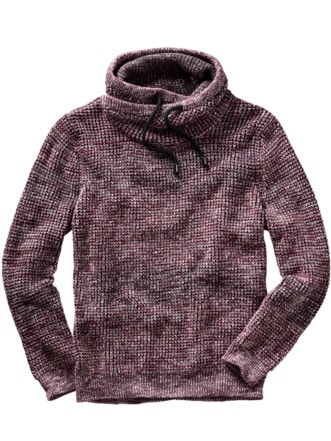 Cowl-Neck-Pullover burgunder Detail 1
