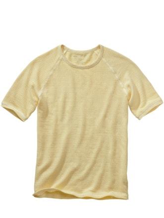 Waffel-Shirt zitrone Detail 1