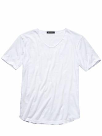 130-Gramm-Shirt weiß Detail 1