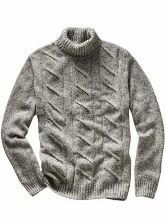 Fischerseil-Pullover grau Detail 1