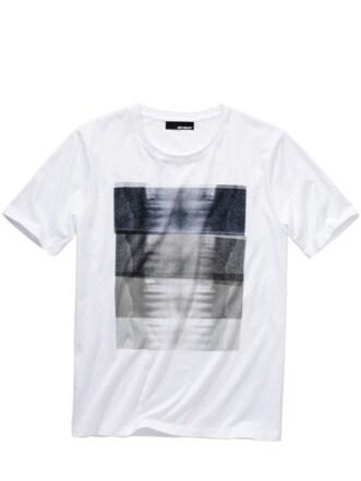 Röntgenblick-Shirt weiß Detail 1