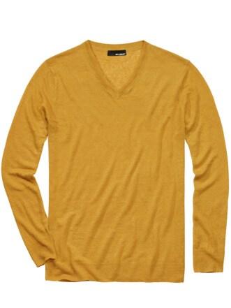 170-Gramm-Pullover safran Detail 1