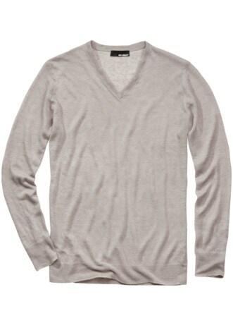170-Gramm-Pullover hellgrau Detail 1