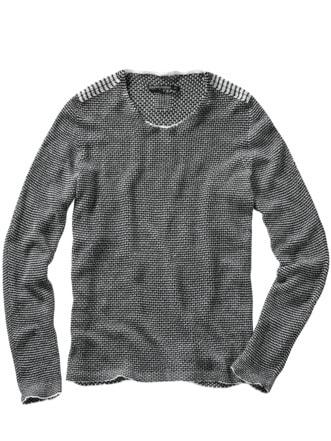 Pullover ba10rde schwarz/weiß Detail 1