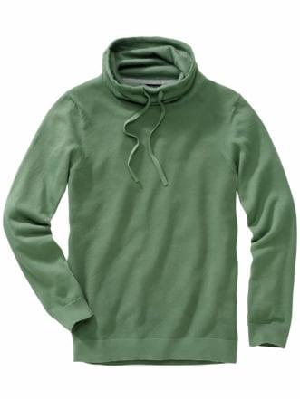 Kasten-Pullover fahngrün Detail 1