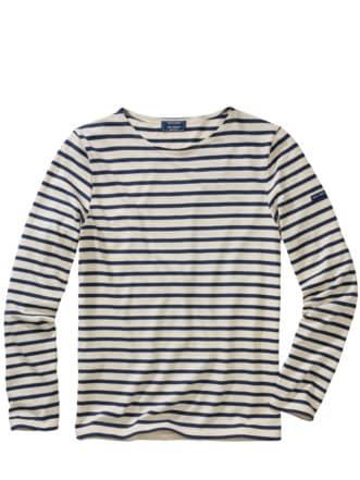 Bretagne-Shirt Streifen ecru/marine Detail 1