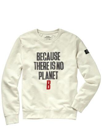 No Planet B Sweatshirt asphalt Detail 1