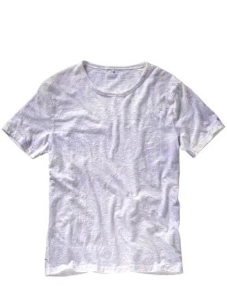 T-Shirt Ciadam violett/weiß Detail 1