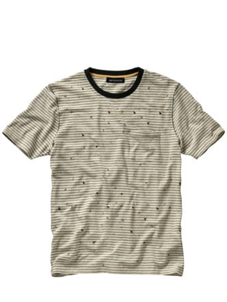 Streetart-Shirt beige/bunt Detail 1