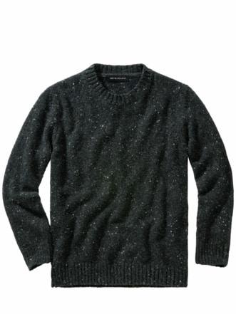 Tweed-Pullover anthrazit Detail 1